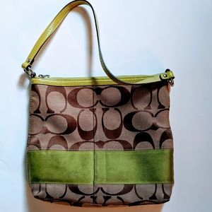 COACH | Brown/Green Should Bag